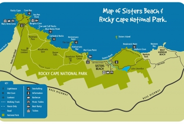 Map-Sisters-Beach-Rocky-Cape-NP